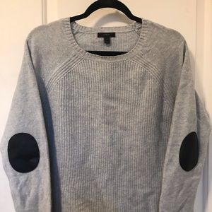 J. Crew Wool Sweater with Leather Elbow Patches